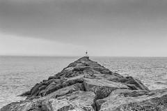 Presque Isle Harbor Lighthouse (J&E Adventures) Tags: lighthouse landscape uppermichigan marquette nature exploring harbor up michigancoast 35mm film michigan summer coastline blackandwhitephotography bw ishootfilm puremichigan filmphotography canona1 canon presqueisle blackandwhite upperpeninsula lakesuperior