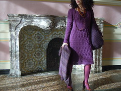 abito prugna (stranelane1) Tags: knit knitted knitting maglia tricot lana wool abito vestito dress