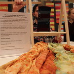 Natural dyes and textiles art exhibit.