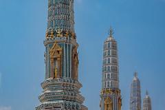 2016_04-Bangkok-M00089 (trailbeyond) Tags: architecture asia bangkok blue building gold location outdoors pattern religiousbuilding statue temple templeoftheemeraldbuddha texture thailand thegrandpalace tower watphrakaew white