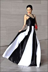 Faye Leon Collection (Black & White) (Images by A.J.) Tags: fashion editorial gown black washington dc white red design designer faye leon model dress full length