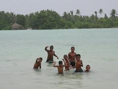 Kids playing, south Tarawa!