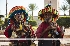 Berber water sellers - Marrakesh, Morocco (Naomi Rahim (thanks for 3 million visits)) Tags: marrakech marrakesh morocco africa northafrica 2016 المغرب مراكش travel travelphotography nikon nikond7200 wanderlust people men berber friendly traditional clothes clothing colourful summer streetphotography candid