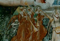 Pistoia, Toscana, Chiesa di San Francesco, fresco, life of St. Francis, detail (groenling) Tags: italy angel italia trumpet it tuscany angelo bagpipes toscana affreschi fresco tromba pistoia shawm cornamusa ciaramella chiesadisanfrancesco mmiia