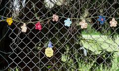 Easter yarn bomb (karenblakeman) Tags: caversham uk cf14 challenge friday easter april 2014 yarn yarnbomb fancyfence smileonsaturday