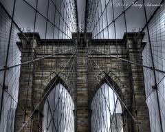 Dancing on a wire (schreudermja) Tags: new york nyc newyorkcity bridge usa ny brooklyn america wire nikon unitedstates stones manhattan united states marty 1875 d300 broolynbridge schreuder martyschreuder