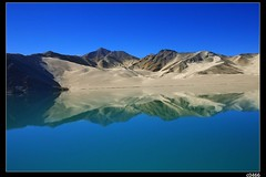 nEO_IMG__MG_9917 (c0466art) Tags: trip travel blue pakistan sky sunlight lake reflection yellow canon landscape amazing still interesting sand colorful view desert bright image air wide chinese fresh clear boundary pamirs hightland 5d2 c0466art