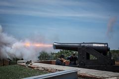 Rocket's Red Glare (nsandin88) Tags: history canon fire war fort civil delaware firing