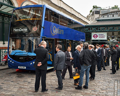 Optare MetroDecker Launch (cybertect) Tags: bus london coventgarden doubledecker wc2 londontransportmuseum optare londonwc2 canonfd35mmf28 sonya7 optaremetrodecker metrodecker op14are