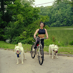"Czar, Tanya, and Hudson On A Bike Ride • <a style=""font-size:0.8em;"" href=""http://www.flickr.com/photos/96196263@N07/14550957451/"" target=""_blank"">View on Flickr</a>"