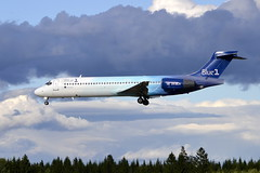 Blue 1 OH-BLH, OSL ENGM Gardermoen (Inger Bjørndal Foss) Tags: norway boeing 717 blue1 osl gardermoen engm ohblh
