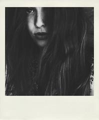 (Vallelitoral) Tags: blackandwhite bw blancoynegro girl beautiful beauty hair polaroid andalucía spain bn bella pelo tarifa iphone flickraward iphonegraphy polamatic