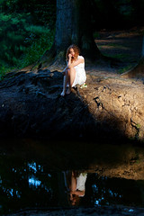 ............ (akal_flickr) Tags: wood reflection water femaleportrait