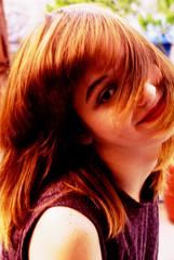 Descuido (Triztanico) Tags: november portrait inspiration color girl smile rain vintage hair polaroid happy eyes natural personal zoom kodak expression adorable lifestyle blond universidad postale tumblr intagram