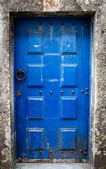 Blue (PMTN) Tags: door old blue portugal metal azul stone canon sintra doorknob frame porta pedra antigo moldura maçaneta pedronascimento dwwg