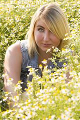 Abigail (austinspace) Tags: summer portrait woman washington spokane wheat blond blonde cheney canola chamomile palouse spangle