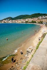 Visit to the beach (depomian) Tags: sunset summer sun france beach water bath bathing ajaccio