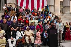 Political Rally at Borough Hall with Borough President Eric Adams and Deputy Borough President Diana Reyna (Diacritical) Tags: nyc newyork brooklyn 35mm political rally immigration boroughhall politicalrally ericadams f48 summiluxm11435asph centerweightedaverage dianareyna secatf48 leicamtyp240 july302014 63437pm