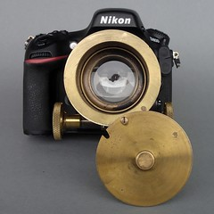 85mm Cindo projection lens in Mk II brass focussing mount on Nikon D800 (heritagefutures) Tags: camera paris project lens design nikon antique 85mm mount rings projection filter f adapter series simulator cinematic brass stepup d800 stepdown focussing m39 cindo petzval 625mm 6772mm 7267mm 5272mm 3952mm