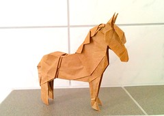 Pony - 3D Version (Cecilia  Origami Fan) Tags: horse paper square uncut one fan 3d origami version craft pony cecilia pferd     kawahata       fumiak