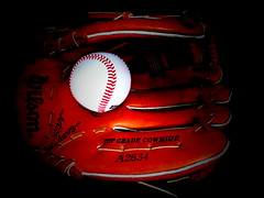 play time (Jackal1) Tags: game leather sport ball words baseball letters numbers glove wilson cowhide mitt