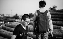 Friend (stanley yuu) Tags: people man canon eos 50mm blackwhite friend taiwan 5d     carlzeiss makroplanar
