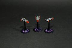 Cobra Class Destroyers (AdmGR) Tags: white miniatures miniature model destroyer warhammer battleship frigate wargame warhammer40000 warhammer40k gamesworkshop battlecruiser imperium battlefleetgothic