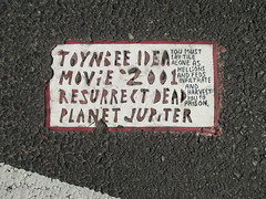 Toynbee Tiles Broadway NYC 6249 (Brechtbug) Tags: street 2001 nyc get classic by movie tile dead one idea for is alone kubrick north hell broadway twin severino made more tiles than half cult planet beyond jupiter melted now says reward toynbee named verna lay searching sevy hellion possibly 37th feds 2014 reclusive galileos resurrect philadelphian superhell 08262014