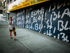 blah, blah, blah (john fullard) Tags: street new york city nyc urban newyork color colour candid pedestrian sidewalk blah fujix10