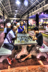 Chess Routine (rewer_pi21) Tags: park portrait color men night asian evening asia southeastasia philippines kitlens filipino hdr duarte mindanao cagayandeorocity che