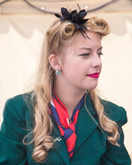 Air girl (cowboy72) Tags: people beautiful hostess northyorkshire airgirl leyburn1940sweekend