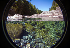 Santiam Split Level - Oregon (Thomas Shahan 3) Tags: summer water oregon creek swimming river underwater hole hiking sunny snorkeling clear pools splitlevel santiam