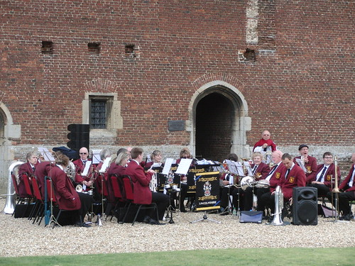 Tattershall Castle - ASB getting ready for the concert.