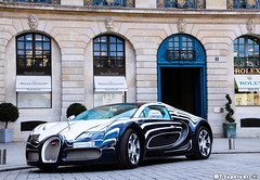 Artwork (MT Supercars) Tags: blue summer white paris sport gold mt place unique or grand porcelaine lor bugatti blanc luxury luxe supercars veyron vendome ksa arabs 2014 molsheim grandsport orblanc hypercars mtsupercars