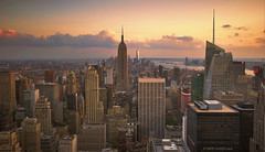 New York, New York (Fil.ippo) Tags: sunset newyork skyline cityscape manhattan sigma 02 empirestatebuilding 1020 hdr filippo topoftherock platinumheartaward d7000 filippobianchi
