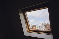 outside (Jerlene Ng) Tags: sky house holland window amsterdam clouds townhouse thenetherlands attic