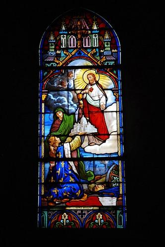 2 - Auvers-sur-Oise Eglise Notre-Dame de l'Assomption La France offrant la Basilique au Sacré-Coeur de Jésus
