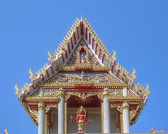 Wat Khao Rang Ubosot Gable (DTHP0550) วัดเขารัง หน้าจั่ว อุโบสถ