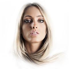Eleonora (Daniele Melato (DiEmme)) Tags: portrait white face canon hair studio eos eyes lips occhi blond 5d ritratto viso daniele mkii capelli markii bionda labbra melato nianco