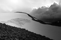 Fresvik glacier tour B&W II (MortenTellefsen) Tags: blackandwhite bw mountain nature norway clouds cloudy stones natur bre vik glacier norwegian highland mountainview breen fjell fjelltopp vestlandet fjelltur topptur fresvik fresvikbreen