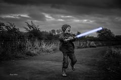 Phantom Menace 2.0 (Paul Aston1977) Tags: family kids canon fun blackwhite starwars walks son somerset 5d amateur lightsabre mkiii summer2014
