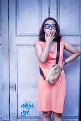 Smoking Lady (Jimmy Chuah) Tags: street door trip vacation holiday beauty lady portraits thailand bangkok smoke smoking gal 2014