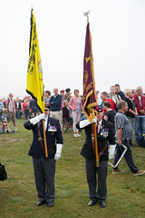 Veterans of the Staffordshire Regiment with their banners #Margetgarden2014 #Airborne_2014