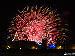 Malta --- Ghaxaq --- Fireworks (Drinu C) Tags: longexposure shells night feast fire colours fireworks sony malta stmary dsc ghaxaq hx100v adrianciliaphotography