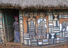 Traditional House With Mural Paintings, Dila, Ethiopia (Eric Lafforgue) Tags: poverty africa travel people house building art home horizontal architecture painting outdoors photography community women day pattern exterior village adult outdoor african traditional straw nobody nopeople structure hut homemade simplicity thatch homestead tradition thatchedroof ethiopia cultures domesticlife anthropology oneperson developingcountries thatched lifestyles hornofafrica ethiopian eastafrica muralpainting thatchedhut dila onewomanonly ruralscene oromia oromo colorpicture nonurbanscene colourimage africanethnicity 1people indigenousculture africanculture onlywomen tukul humanrepresentation builtstructure residentialstructure colourpicture oneadultonly ethio1409586