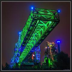 Green monster (ackamann) Tags: green industry nikon nightshot grn landschaftspark industrie nachtaufnahme duisburgnord lapadu d7100