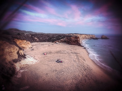 Cove (Cre8 Thru Action) Tags: california new sunset santacruz west beach colors cali clouds canon relax landscape bay coast sand skies cove canyon cliffs westcoast