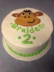 Monkey cake by Kari, Battle Creek, MI, www.birthdaycakes4free.com