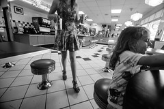 _MG_3915-216 (k.a. gilbert) Tags: bw feet muscles lunch foot lucy athletic toes toe legs sandals nail mother diner polish thighs stems kristen wife handheld pedicure fullframe fitness milf fit 116 strappy calves toenail wedges uwa gams shortdress burgerboys tokina1116mmf28 canon5dc