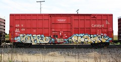 Lopro/Pagan (quiet-silence) Tags: railroad art train graffiti railcar boxcar graff freight pagan wh sry lopro fr8 ync kbt sry9409